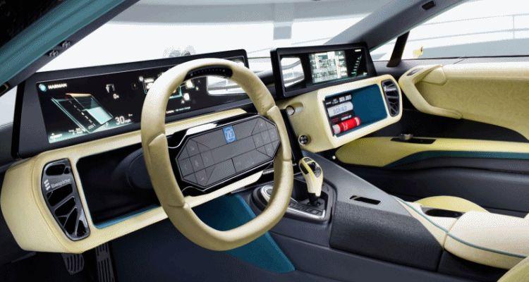 Rinspeed ETOS ZF TRW retracting steering wheel