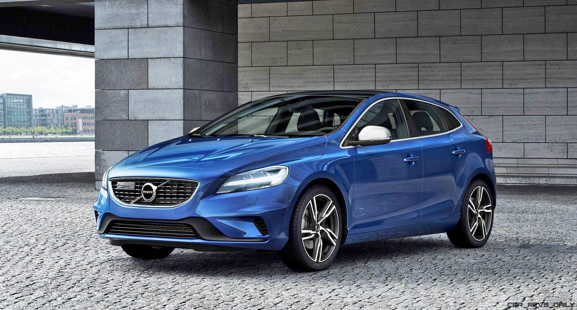 2017 volvo v40 and v40 cross country facelift revealed. Black Bedroom Furniture Sets. Home Design Ideas