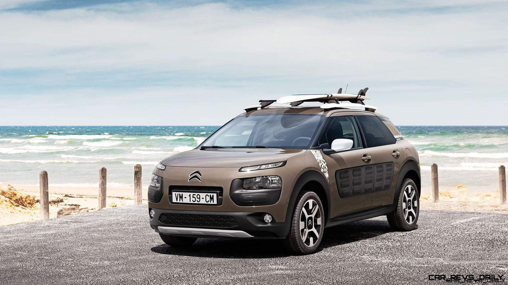 2016 Citroen C4 Cactus Rip Curl Edition Dark Detailing Gripcontrol Glass Roof For Surfer Special Car Revs Daily Com