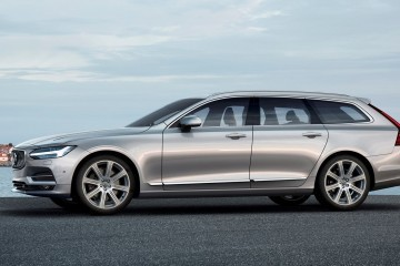 2017 Volvo V90 Debuts - 400HP T8 Engine, Low-Roof Look Marks Return to Form
