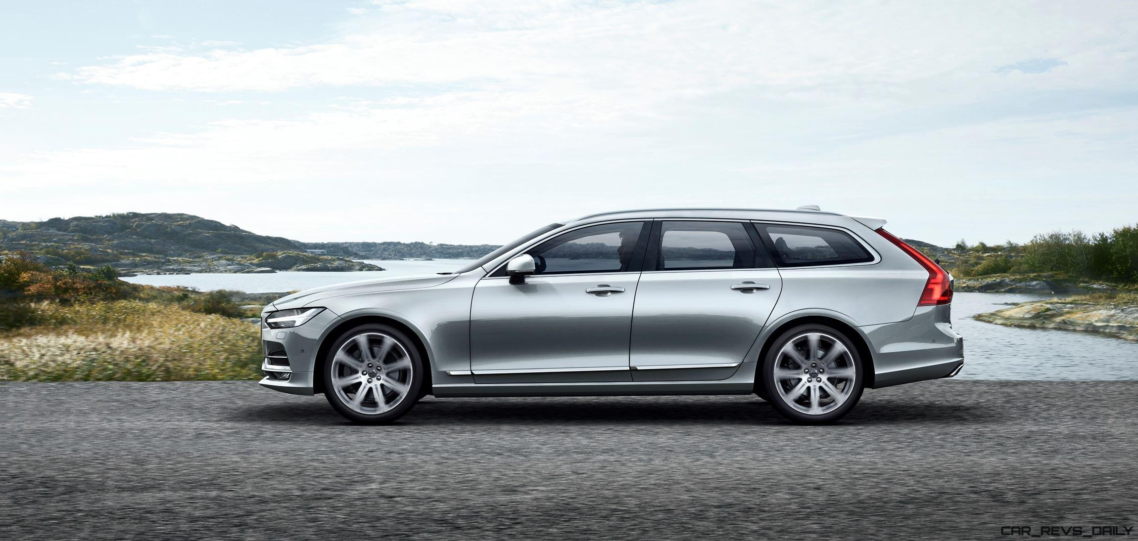 2017 volvo v90 debuts 400hp t8 engine low roof look marks return to form. Black Bedroom Furniture Sets. Home Design Ideas