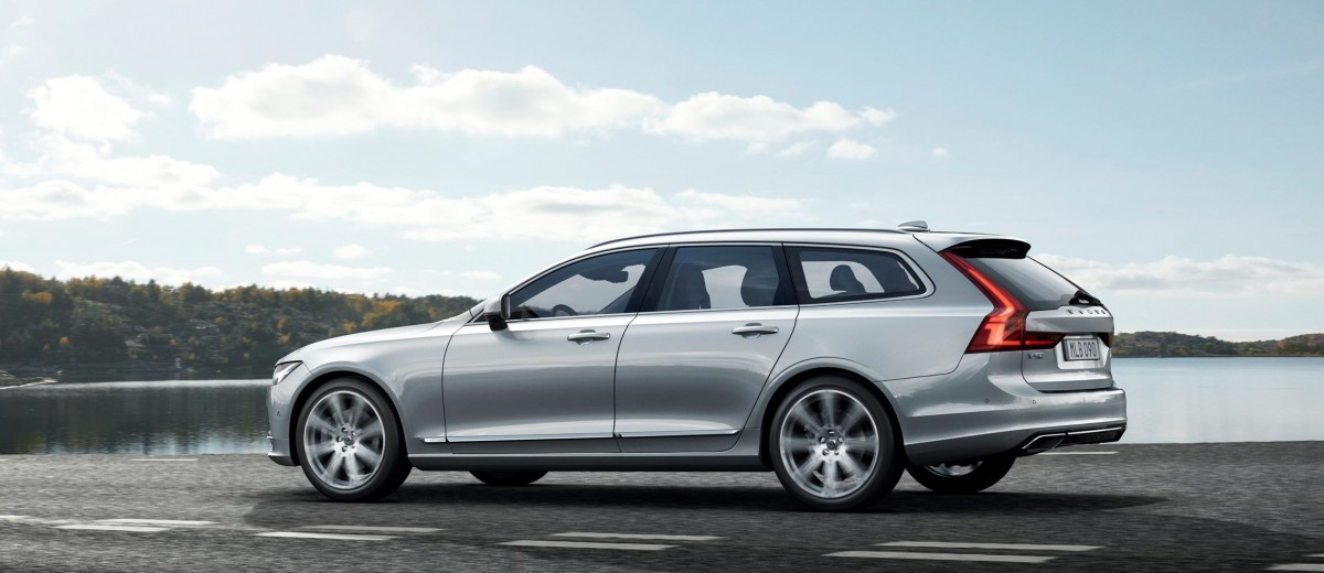 2017 volvo v90 debuts 400hp t8 engine low roof look. Black Bedroom Furniture Sets. Home Design Ideas