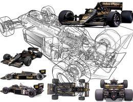 1986 Lotus 98T/3 F1 Car of Ayrton Senna – Animated 3D Cutaway by Roy Scorer, Tech Illustrator Extraordinaire