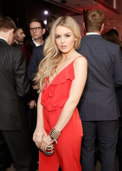 Tallia Storm 3 at the UK launch of the Ferrari 488 Spider at the Watches of Switzerland store, London