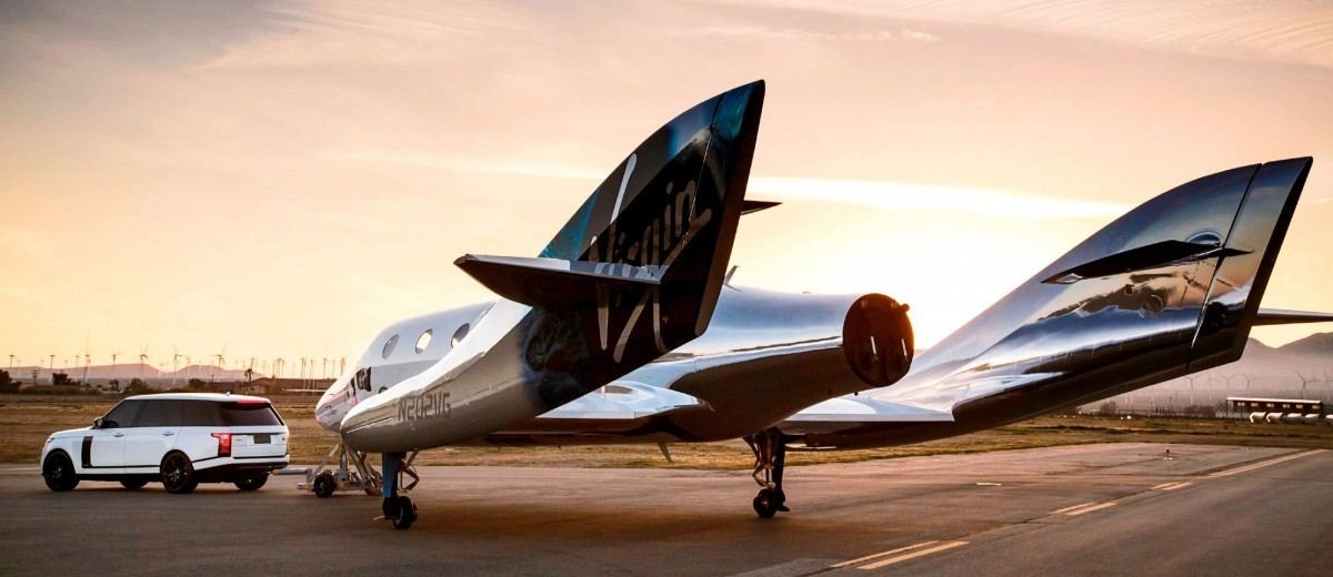 Virgin Galactic VSS Unity with Range Rover Autobiography