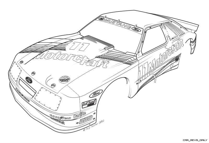 1985 ROUSH Protofab Ford Mustang GTO - Animated Technical Illustrations 1