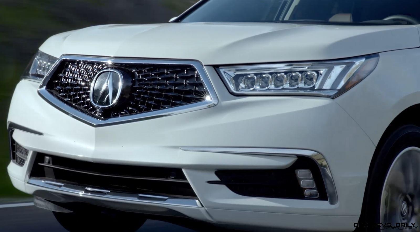 Acura MDX Sport Hybrid Leads Updated Range Images - 2018 acura rdx headlights