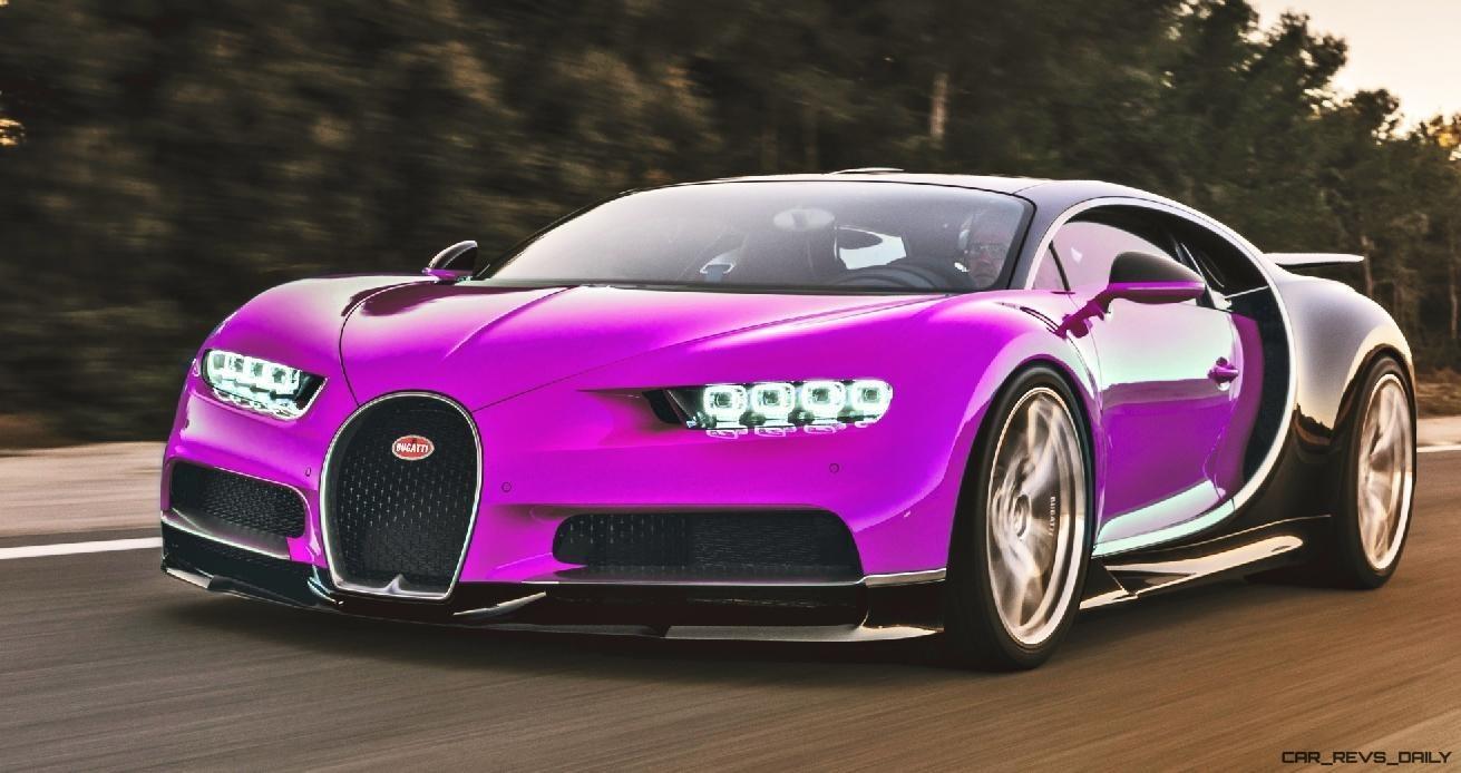Black and pink bugatti