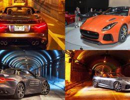 Best of #NYIAS – 2017 Jaguar F-TYPE SVR – POV Blast Through Holland Tunnel + Showfloor Gallery