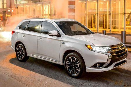 Ny Debuts 2017 Mitsubishi Outlander Phev Hybrid Li Ion Eawd 7 Seater