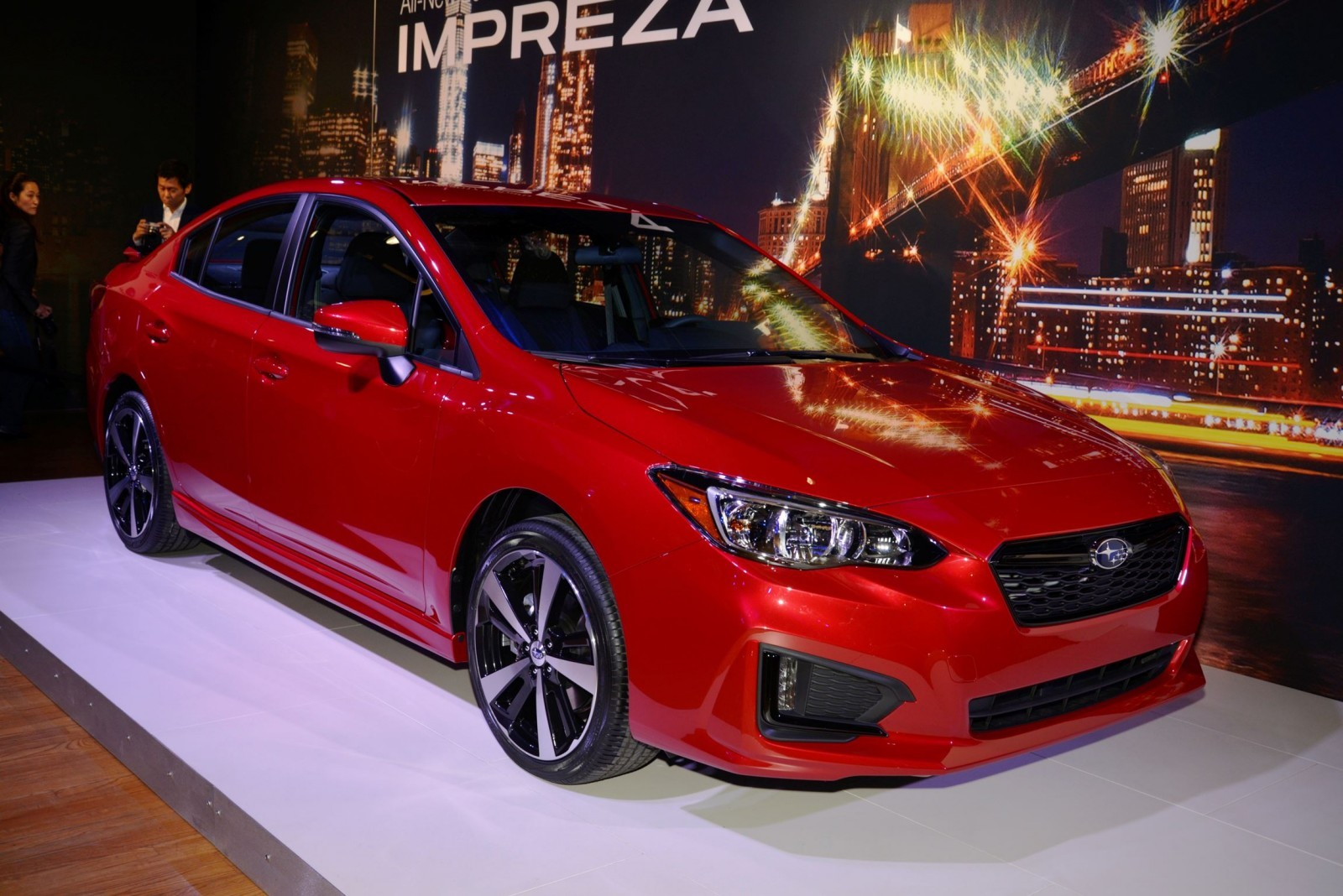 2017 subaru impreza sport and 5 door live ny debut. Black Bedroom Furniture Sets. Home Design Ideas