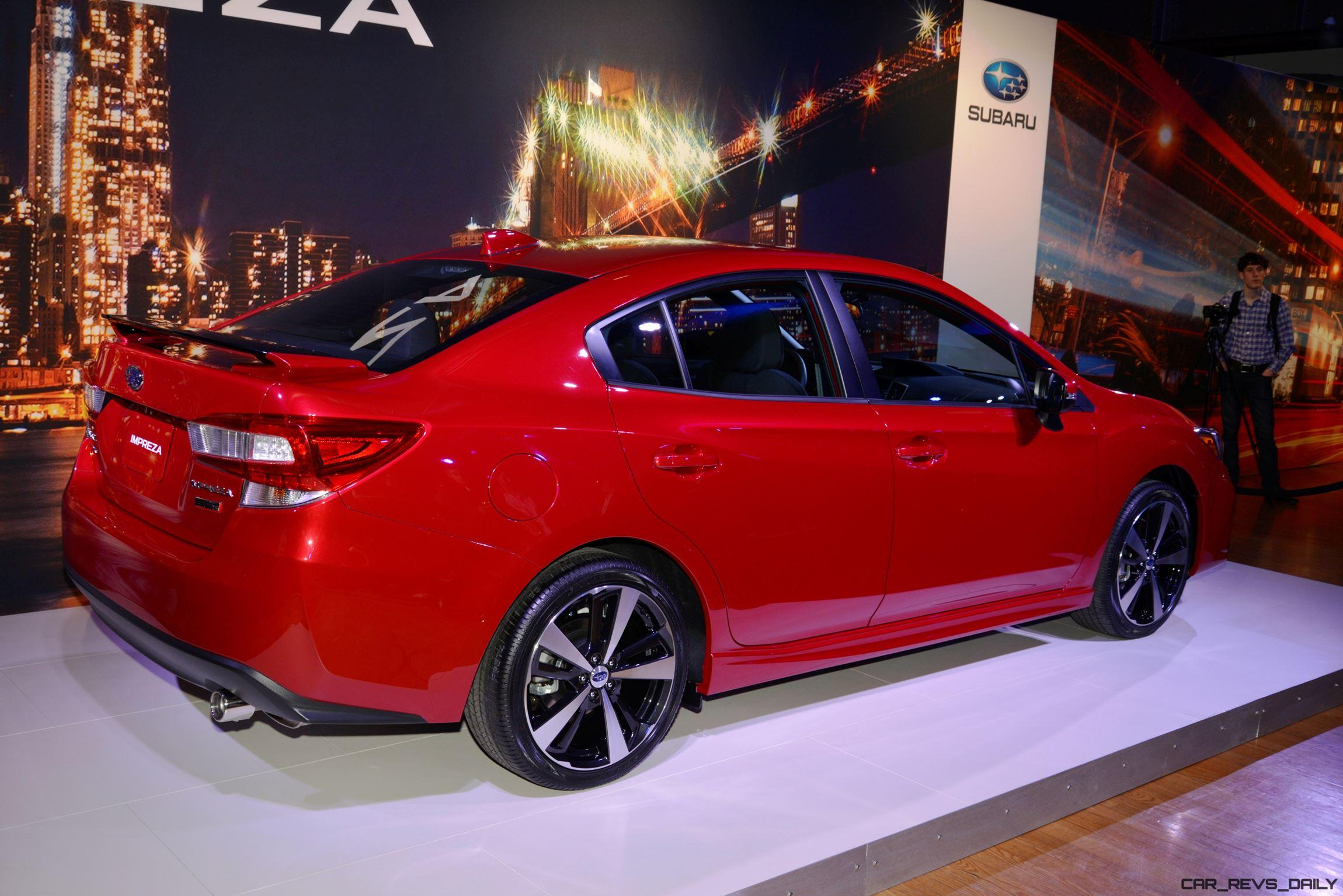 2017 subaru impreza sport and 5 door live ny debut car. Black Bedroom Furniture Sets. Home Design Ideas