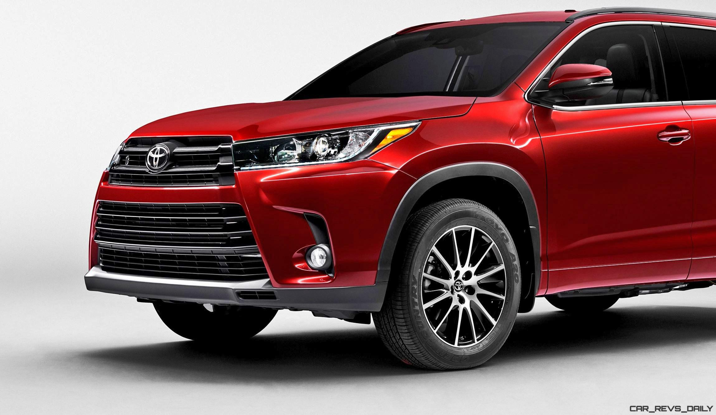2017 toyota highlander preview revised styling new v6 and 8 speed automatic. Black Bedroom Furniture Sets. Home Design Ideas