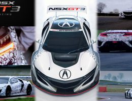 2017 Acura NSX GT3 – V6TT, RWD Racecar is FIA-Ready (+Video)