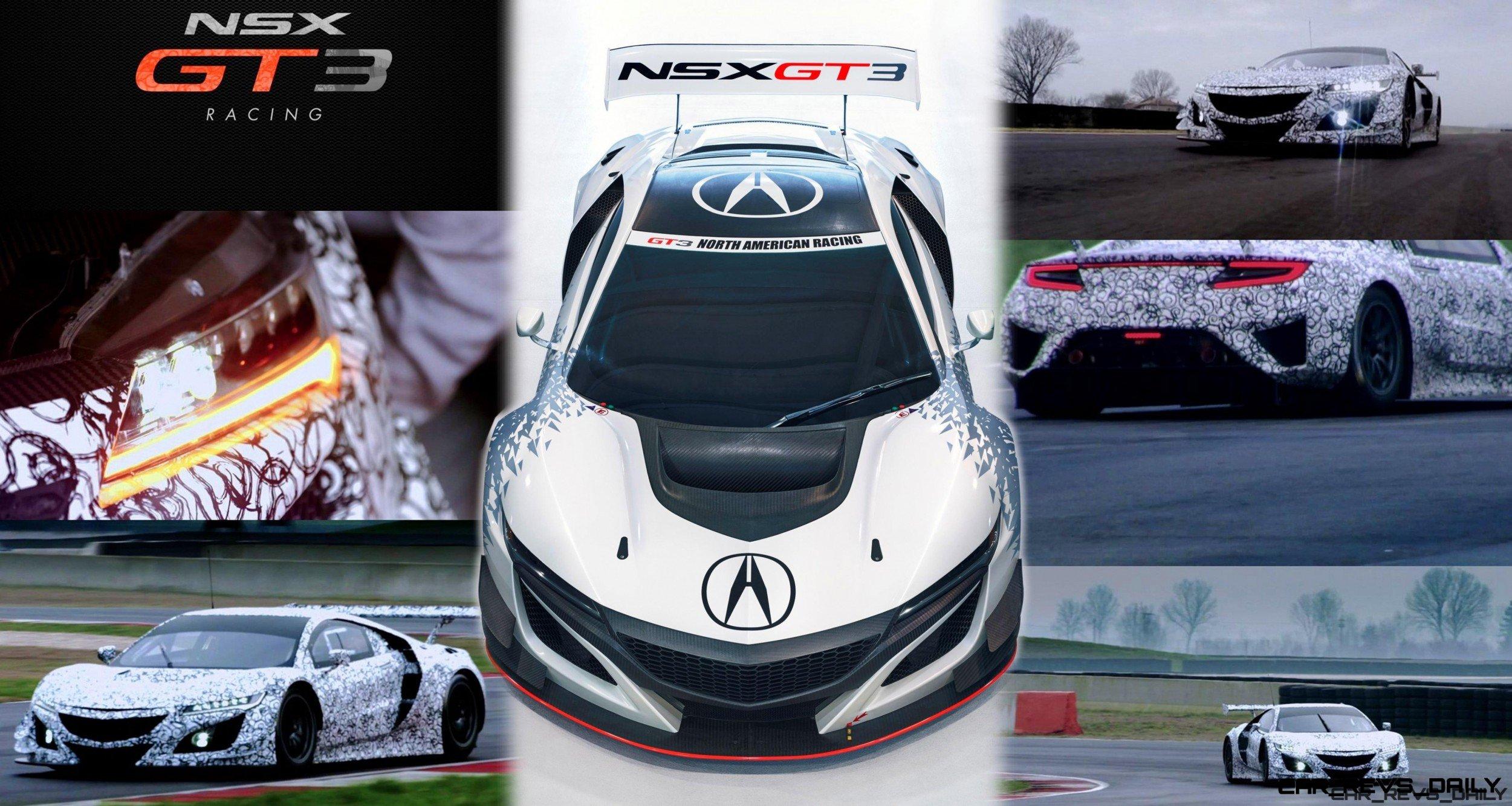 2017 Acura NSX GT3 - V6TT, RWD Racecar is FIA-Ready (+Video)