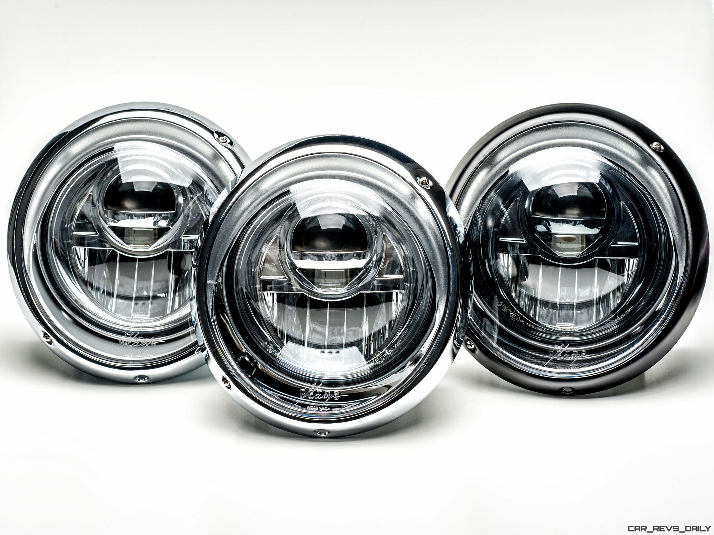 reveals led projector headlamps for classic 911s even carbon optics and black chrome. Black Bedroom Furniture Sets. Home Design Ideas