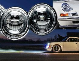 KAEGE.de Reveals LED Projector Headlamps for Classic 911s – Even Carbon Optics and Black Chrome Bezels!