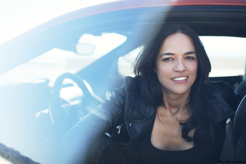 Michelle Rodriguez Roars Past 200MPH in F-Type 2