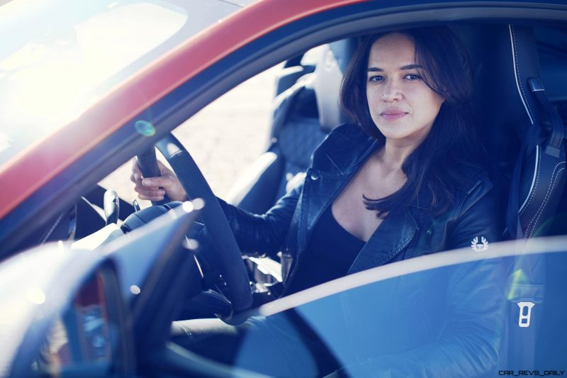 Michelle Rodriguez Roars Past 200MPH in F-Type 5