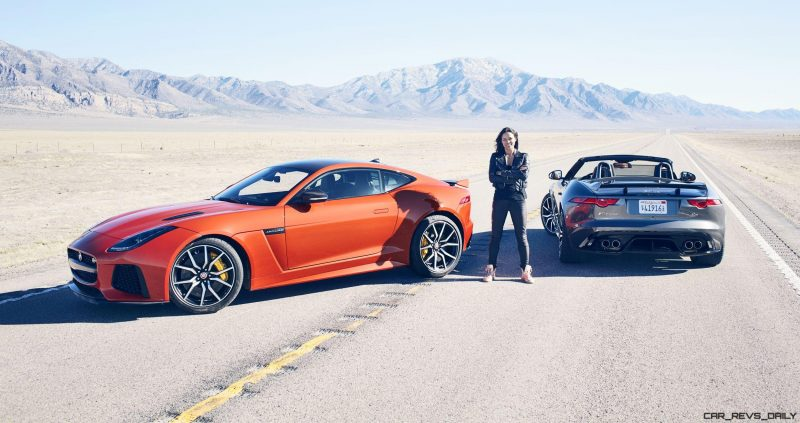 Michelle Rodriguez Roars Past 200MPH in F-Type 6