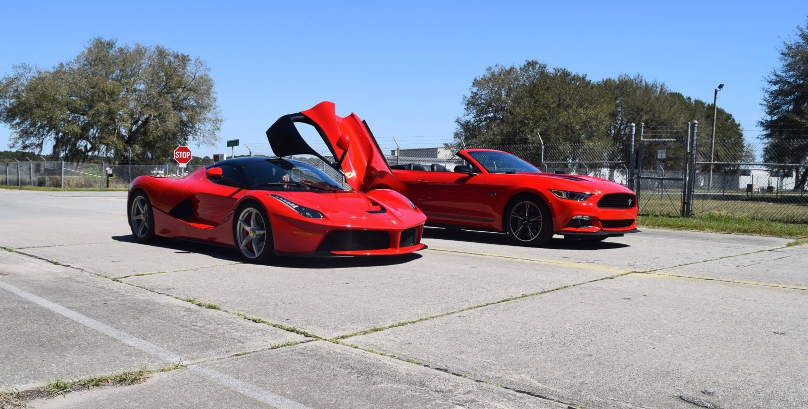 Speed Fleet! 2016 Ford Mustang GT Cali Special + LaFERRARI 10
