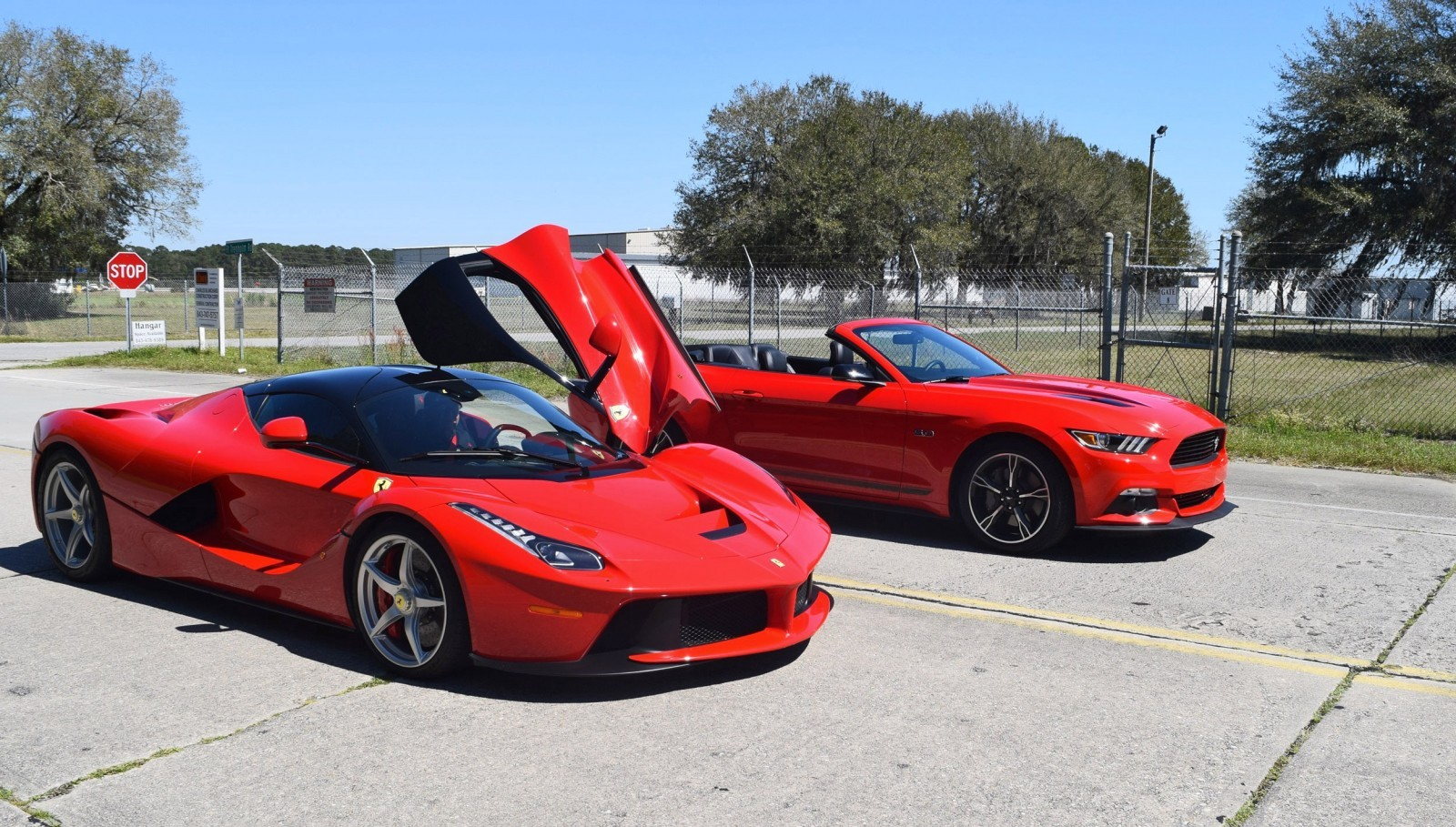 Speed Fleet! 2016 Ford Mustang GT Cali Special + LaFERRARI 17