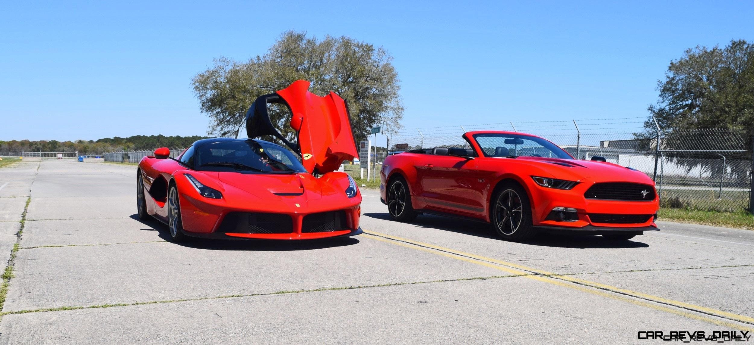 Speed Fleet! 2016 Ford Mustang GT Cali Special + LaFERRARI 5