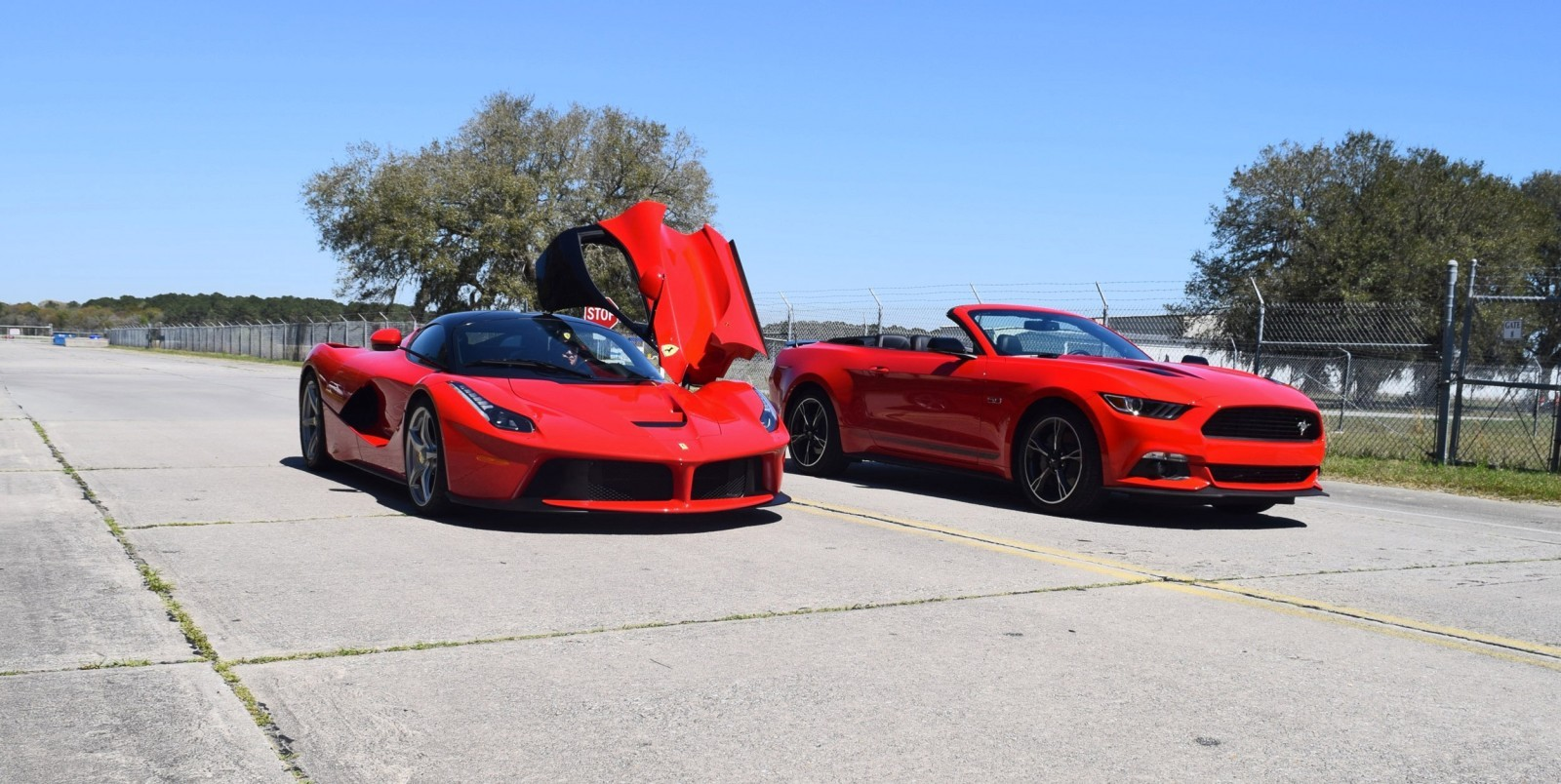 Speed Fleet! 2016 Ford Mustang GT Cali Special + LaFERRARI 6