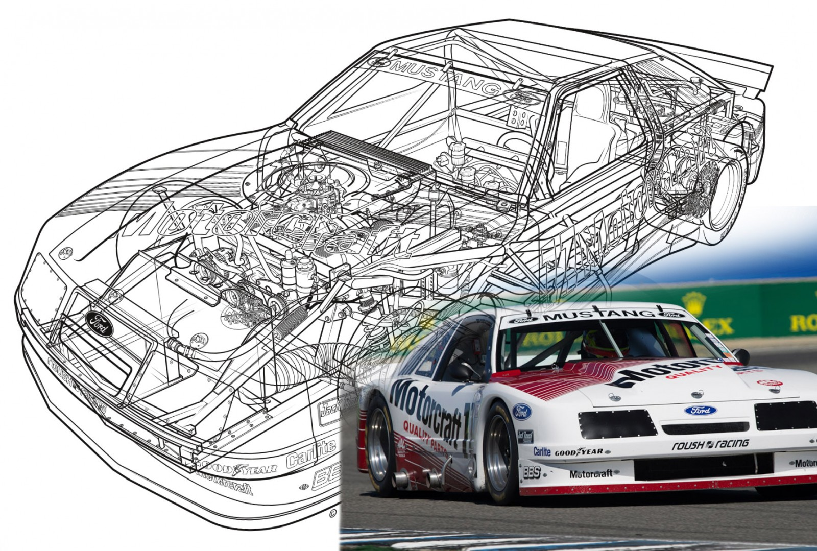 1985 ROUSH Protofab Ford Mustang GTO - Animated Technical ...