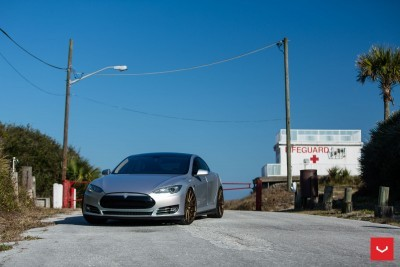 2013 Tesla Model S P85+ - Vossen VFS-2 Wheels -_25353846144_o