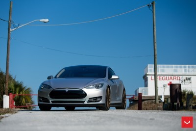 2013 Tesla Model S P85+ - Vossen VFS-2 Wheels -_25353847504_o