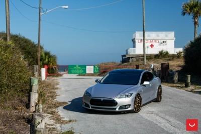 2013 Tesla Model S P85+ - Vossen VFS-2 Wheels -_25685989680_o