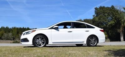 2016 Hyundai SONATA SPORT 2.0T Quartz White 3