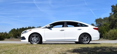 2016 Hyundai SONATA SPORT 2.0T Quartz White 4