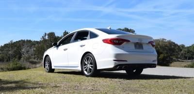 2016 Hyundai SONATA SPORT 2.0T Quartz White 9