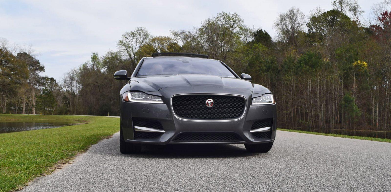 hd road test review 2016 jaguar xf 35t r sport rwd car revs. Black Bedroom Furniture Sets. Home Design Ideas