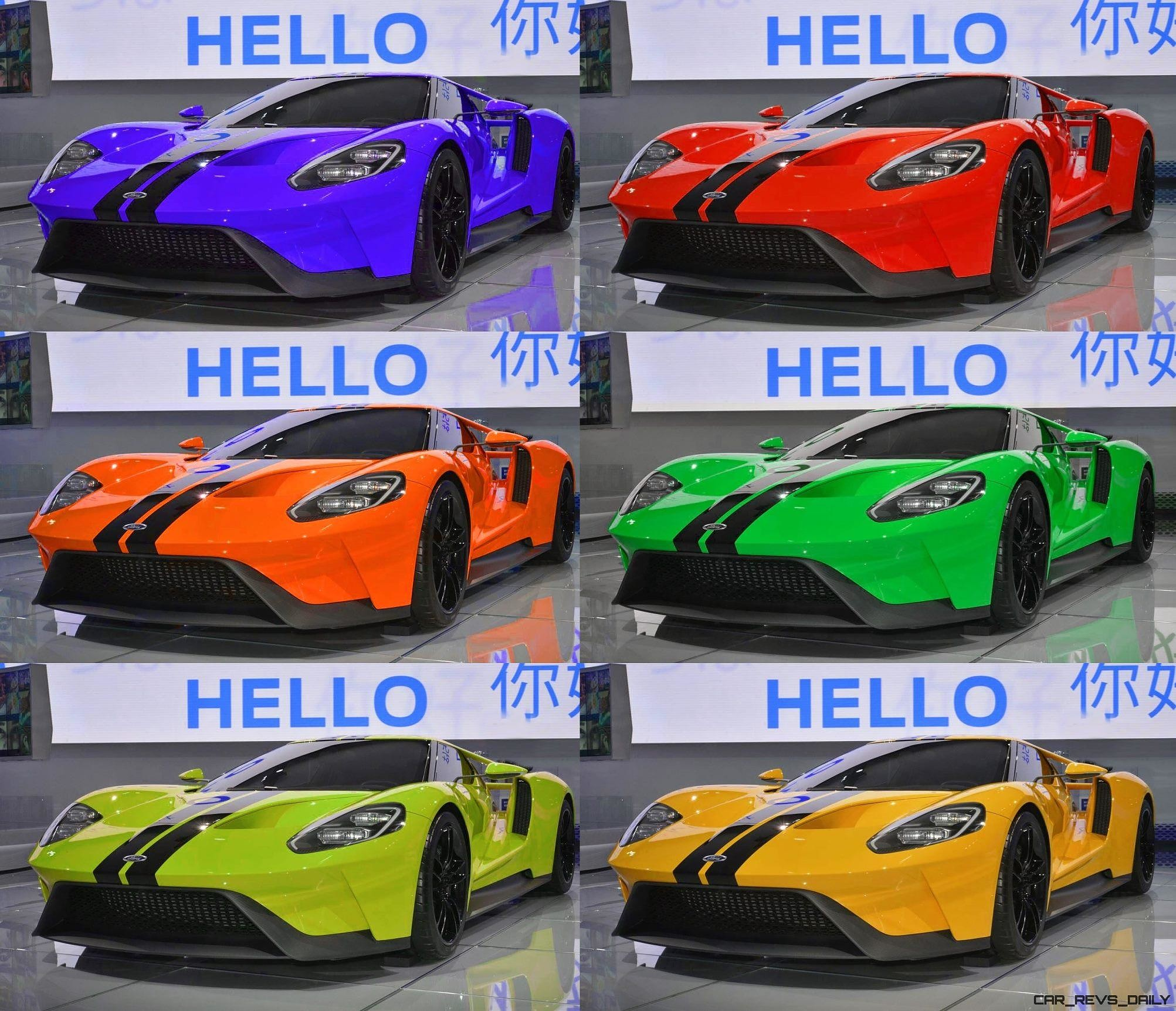 Ford Gt Digital Color Visualizer