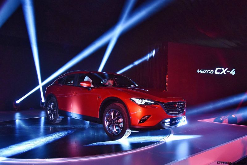 BEIJING, CHINA - APRIL 24: Mazda China introduces CX-4 during the Pre-Event For Beijing Motor Show - Auto China on April 24, 2016 in Beijing, China. Mazda China unveiled the CX-4, a brand new SUV model in the event. (Photo by Xiaolu Chu/Getty Images for Mazda Motor Co )