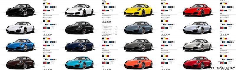 2017 Porsche 911 Carrera S - COLORS Visualizer 16-tile