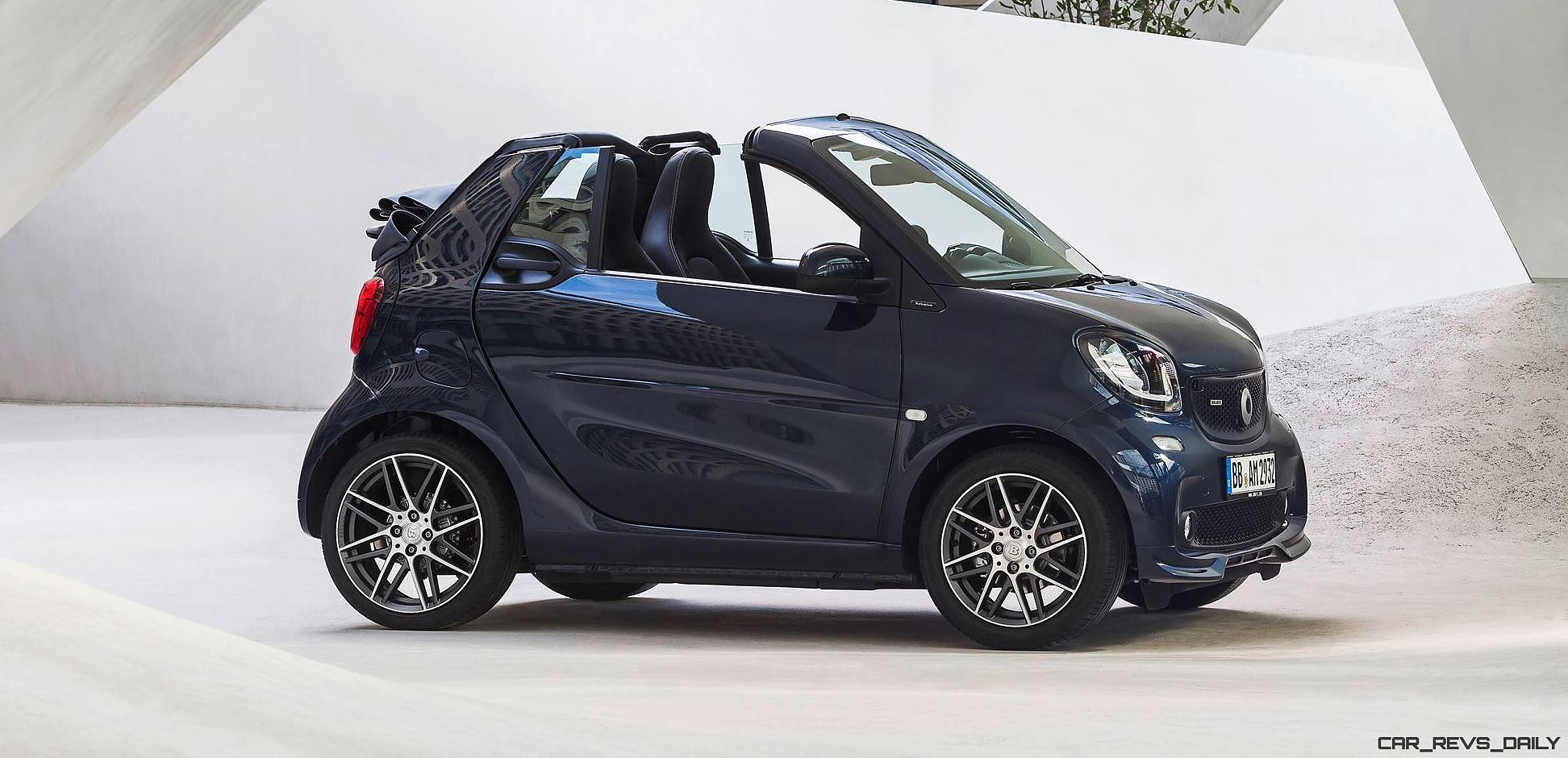 2017 smart brabus twins revealed 20 power bump quicker steering and sport exhaust car revs. Black Bedroom Furniture Sets. Home Design Ideas