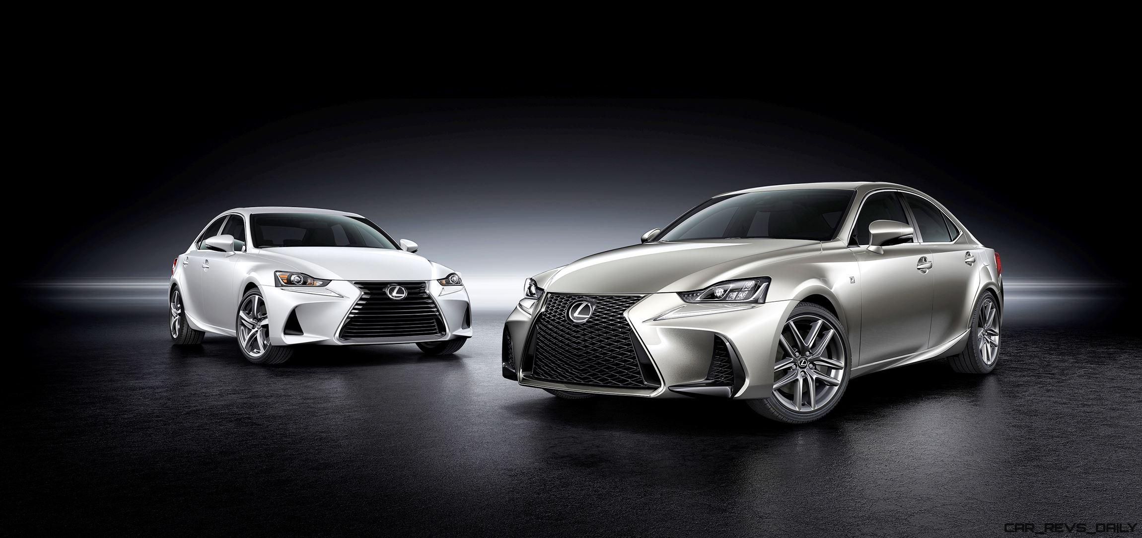 2017 Lexus IS Preview  New Noses Wilder FSport Upgrades and