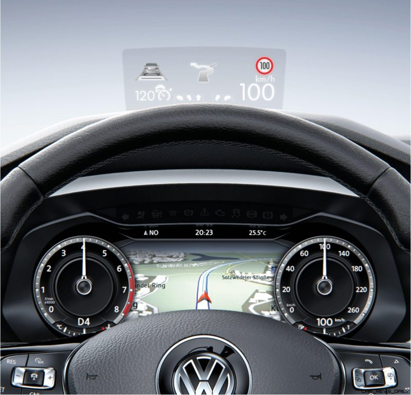 Volkswagen Tiguan head-up display