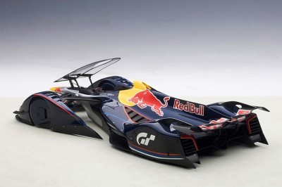 autoART Gran Turismo Red Bull X2014 Fan Car MODEL vs X2010 SCALE MODEL 16