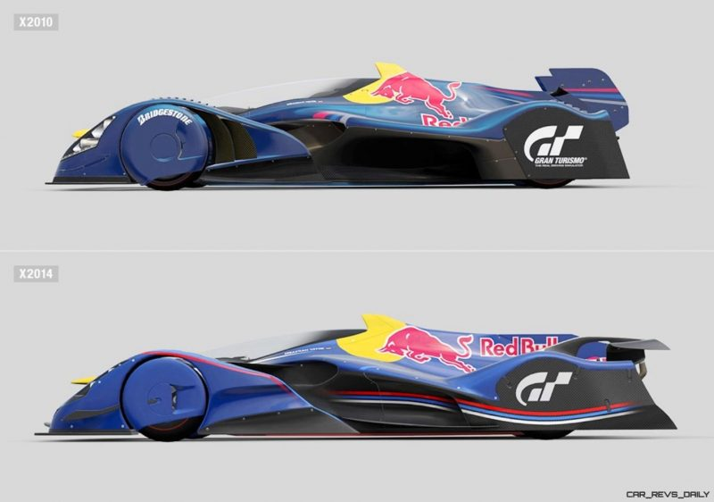 autoART Gran Turismo Red Bull X2014 Fan Car MODEL vs X2010 SCALE MODEL 21