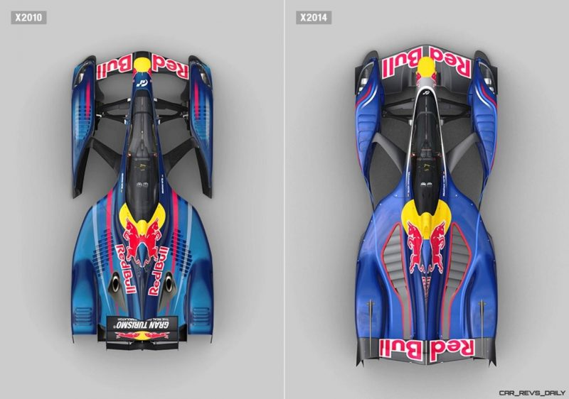 autoART Gran Turismo Red Bull X2014 Fan Car MODEL vs X2010 SCALE MODEL 22