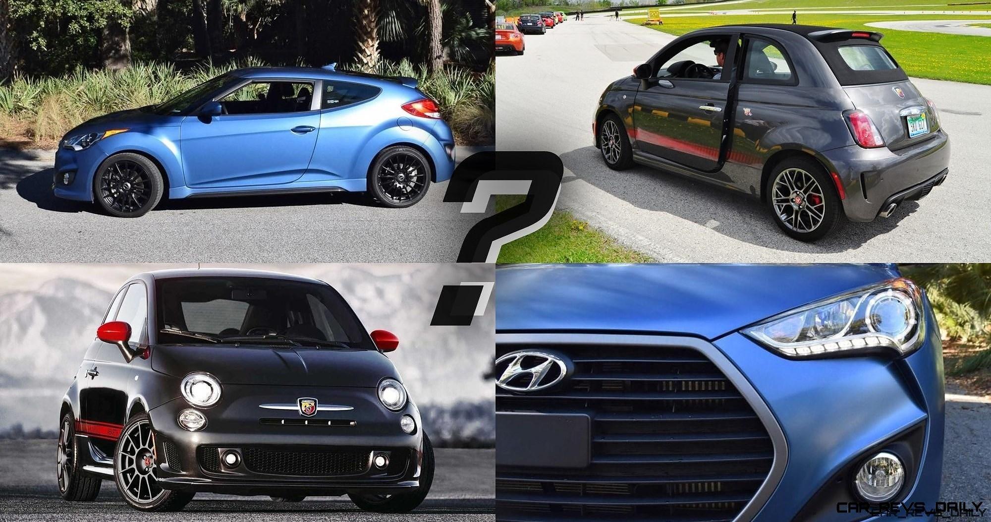 Which Car Wins 2016 Fiat 500 Abarth Vs 2016 Hyundai Veloster Turbo