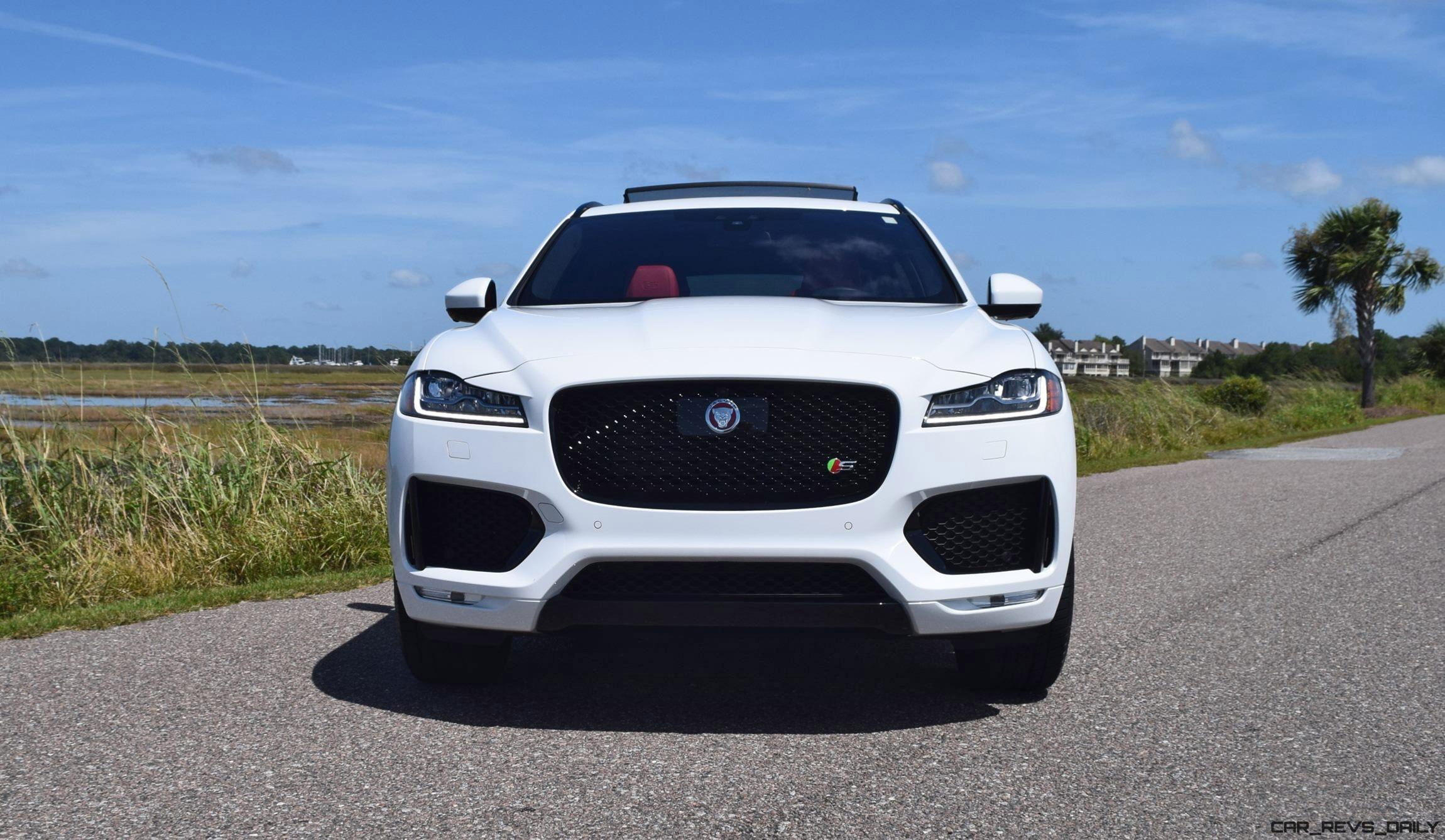 2017 Jaguar F Pace S White Exterior 11