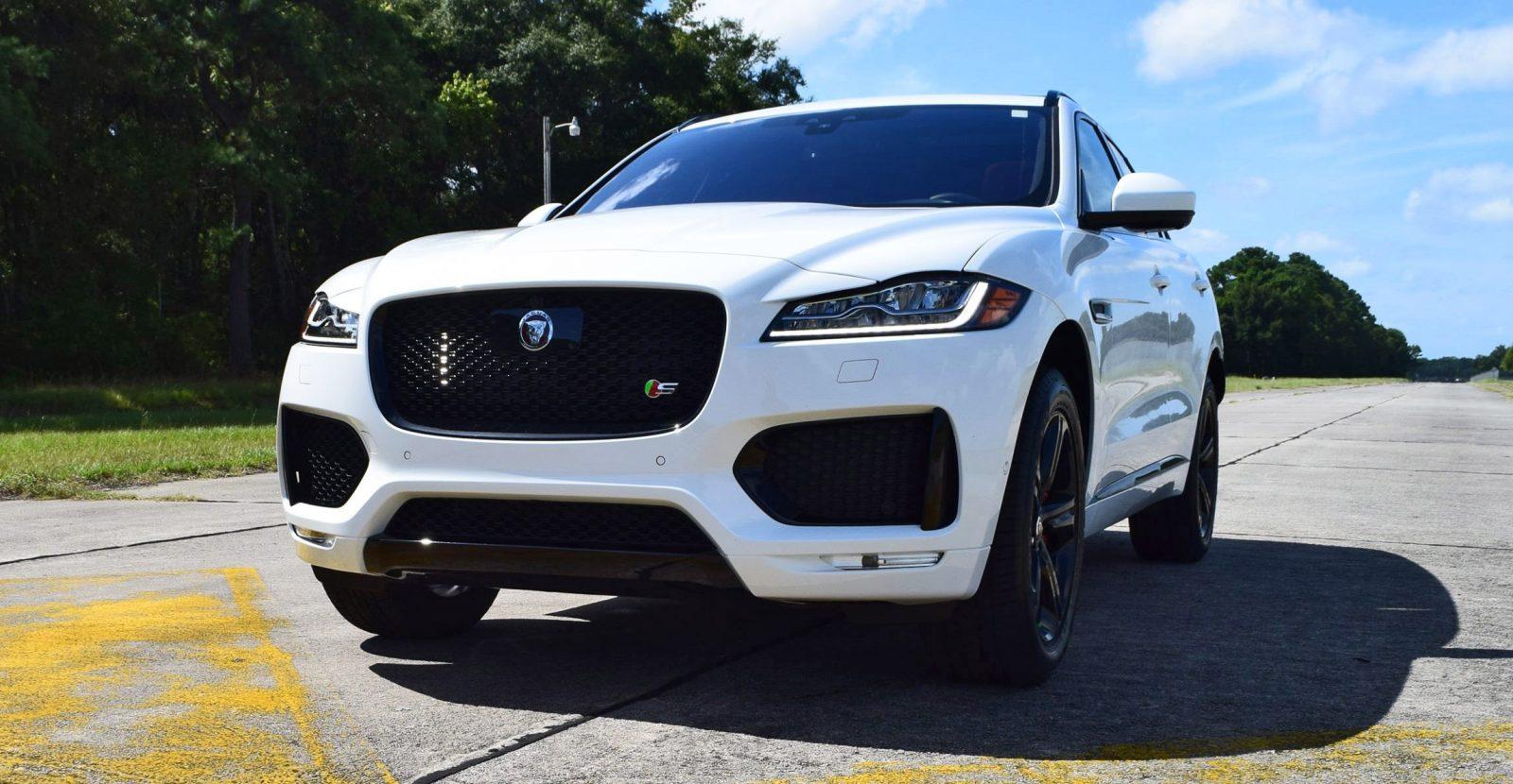 2017 Jaguar F Pace S White Exterior 131