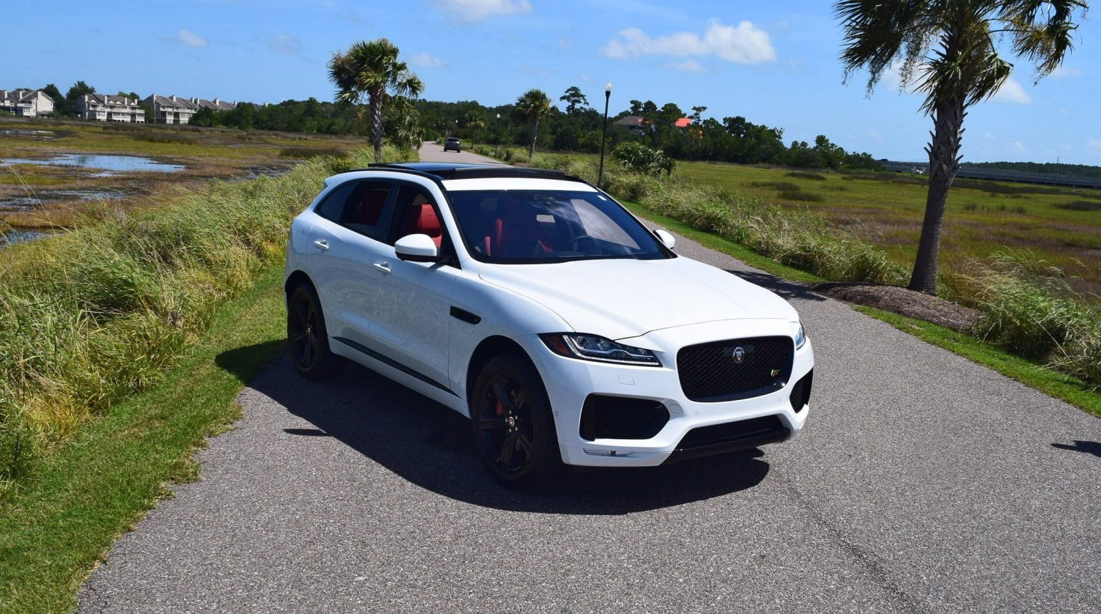 2017 Jaguar F Pace S White Exterior 13