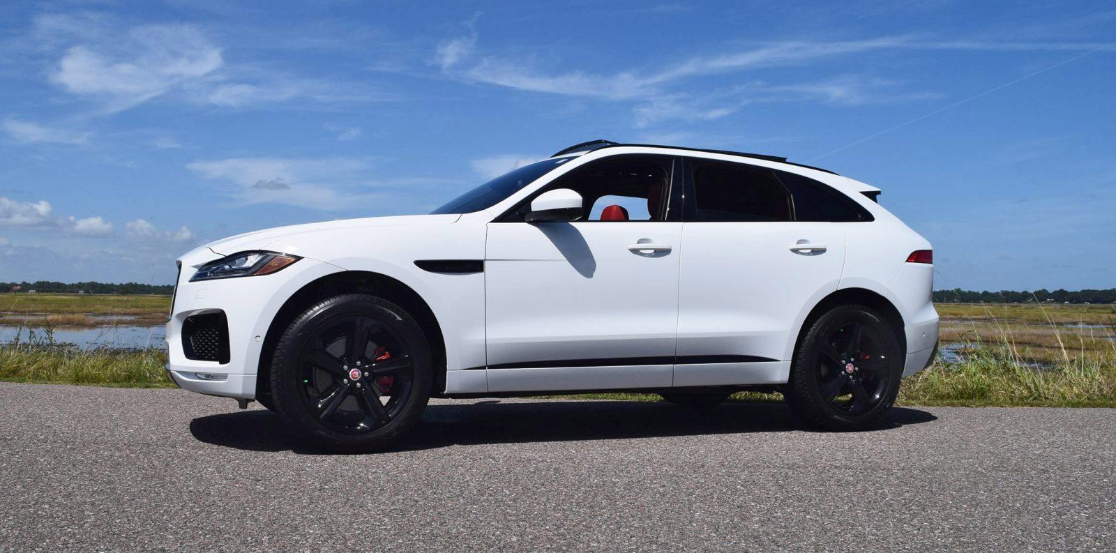 2017 Jaguar F Pace S White Exterior 30